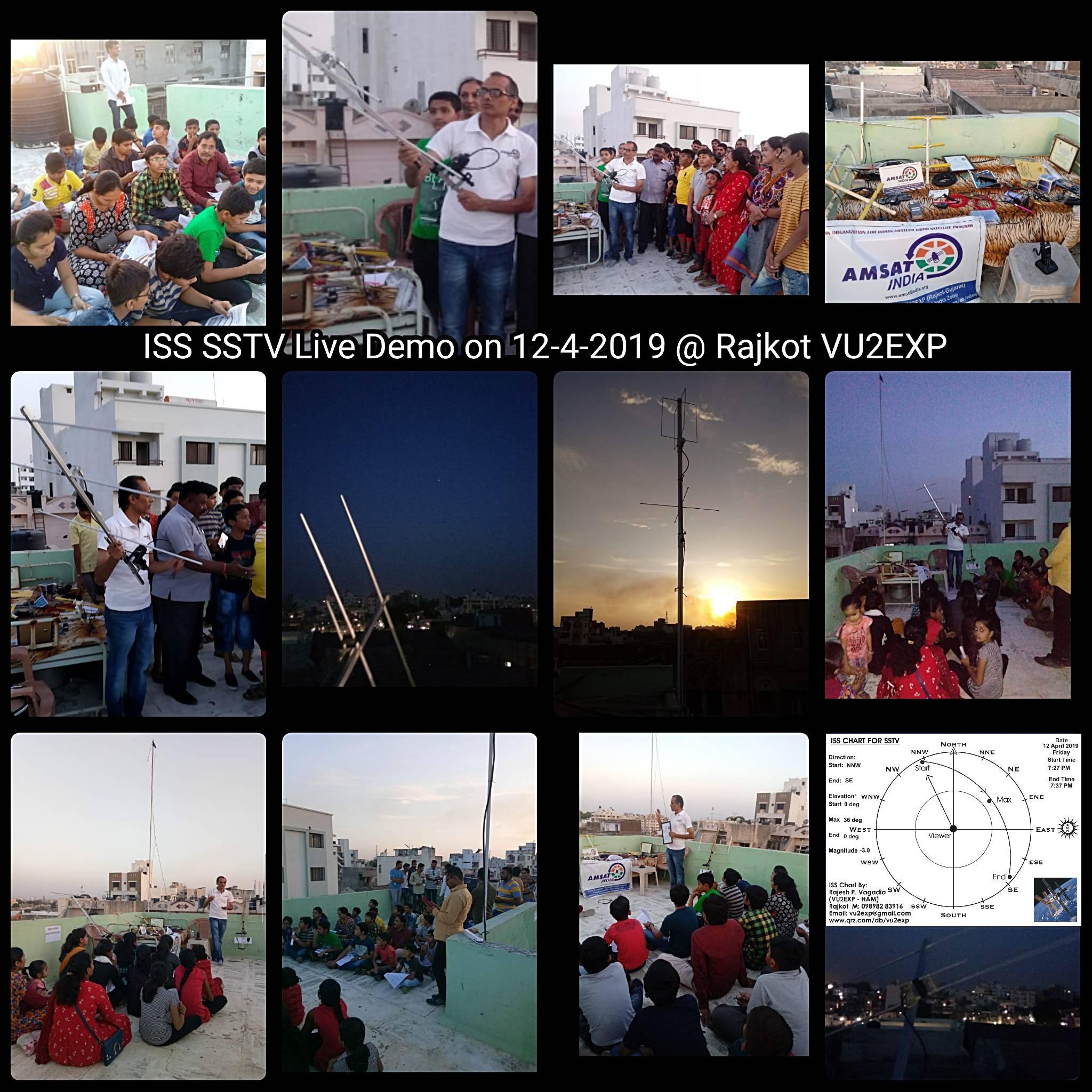 业余界:印度学生观看接收国际空间站SSTV图片的现场演示