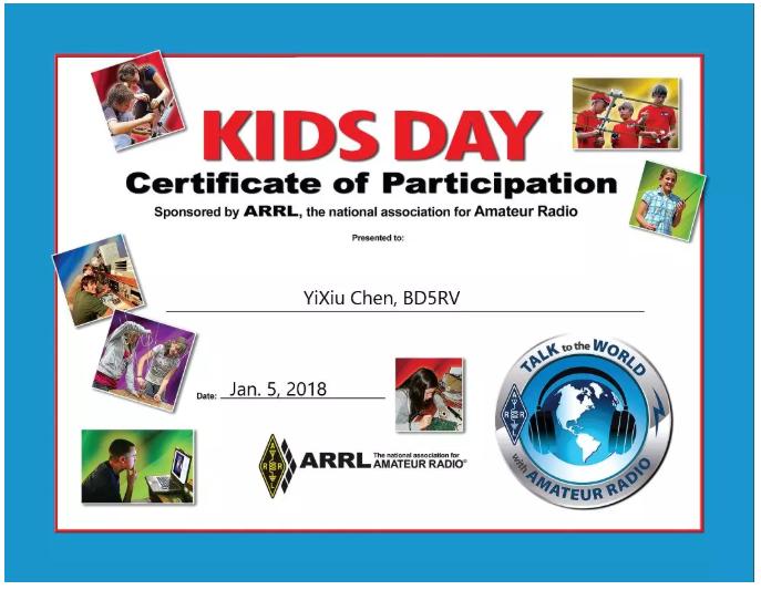业余界:6.15儿童日,和娃娃一起QSO吧!