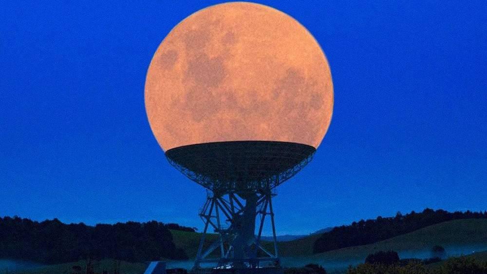 业余界:月亮挂在深空探测站上