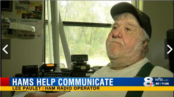 封面:业余无线电爱好者协助飓风后的善后工作
