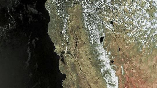 用简易设备就能收到的气象卫星云图