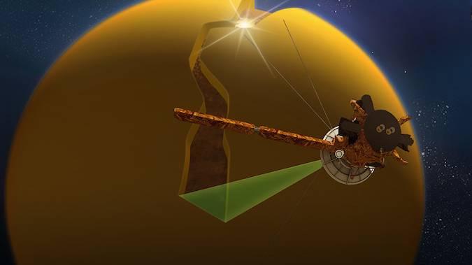 卡西尼号飞船最后一次接近土卫六