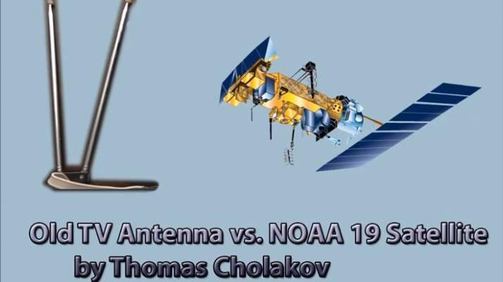 使用一个电视的偶极子天线进行NOAA卫星接收